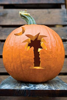 State Flag Pumpkin - 33 Halloween Pumpkin Carving Ideas - Southern Living