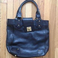 Banana Republic Black Leather Bag.