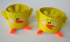 Cardboard Tube Chicks | Crafts by Amanda