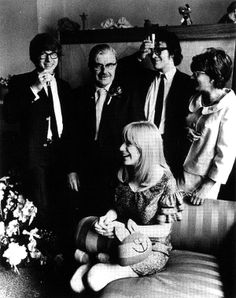 John Dunbar and Marianne Faithfull on their wedding day with Peter Asher as his best man, brother of Jane Asher and Paul McCartney's then fiancée Jane Asher, Marianne Faithfull, Red Army, Mick Jagger, British Army, Paul Mccartney, Rolling Stones, Magick, The Beatles