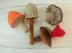 Setas que me comería #amigurumi #setas #mushrooms #crochet