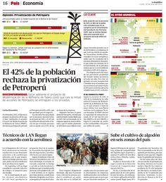 Encuesta sobre privatización de Petroperú  El otro Mundial: Francia vs. Nigeria / Alemania vs. Argelia