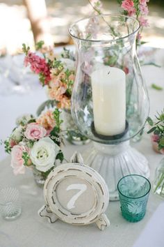 #candles Photography by lanedittoe.com Floral Design by floraloccasions.com/  Read more - http://www.stylemepretty.com/2013/07/03/villa-san-juan-capistrano-wedding-from-lane-dittoe-fine-art-wedding-photographs/
