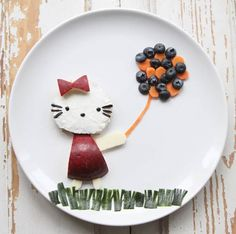 Hello Kitty!  Healthy lunch and breakfast for kids. Babybite.dk