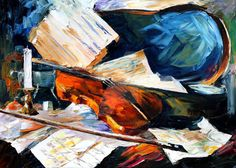 Violin by Leonid Afremov by Leonidafremov on DeviantArt