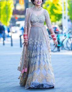 aaec27b579a2e Indian Wedding Crystal Zardosi Embellished Punjabi Bride Lehenga Ethic Wear  New  fashion  clothing