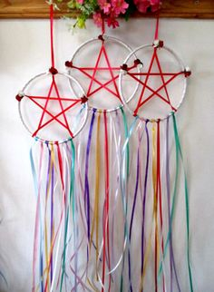 Beltane May Day Celebration Festival Pentacle. by PositivelyPagan