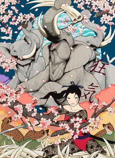 #Illustration #Graphic 狂気/KYOUKI (Madness)