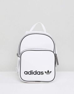 adidas Originals Mini Backpack In White Faux Leather | Gift Ideas | Fitness | Athletic | Active Lifestyle #Sponsored