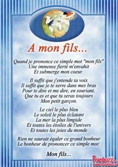 a+fils. Image Citation, Quote Citation, Love My Kids, Emoticon, Positive Affirmations, Kids And Parenting, Best Quotes, Texts, Positivity
