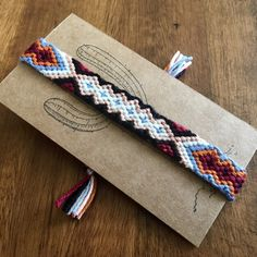 Tribal cotton friendship bracelet