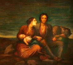 ♧Irish Famine by George Frederic Watts, a bleak portrait of Irish poverty painted in  1850 (1) From: Victorian Web, please visit