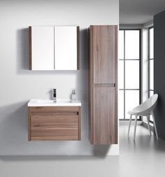 The Golden Elite Labrador wall mounted bathroom vanity is perfect for any minimalist bathroom. The Labrador features a large drawer with a smaller drawer nested Minimalist Bathroom, Modern Bathroom, Wash Basin Counter, Walnut Cabinets, Wall Mounted Vanity, Single Sink, Corner Shelves, Modern Wall, Storage Spaces