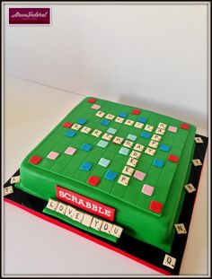 Scrabble  - Cake by Arwa