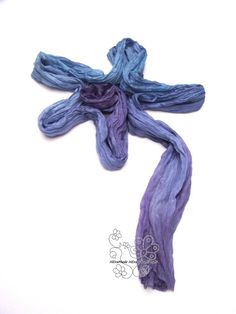 """Thanks for the kind words! ★★★★★ """"An absolutely gorgeous scarf, custom made and created with the colors I requested- beautiful blues with a bit of purple. I can't wait to wear this! Thank you so much."""" Barbara https://etsy.me/2G9Ltvu #etsy #accessories #scarf #blue #bi"""