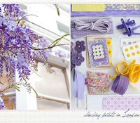 a creative mint: Flowers with Purple and Yellow