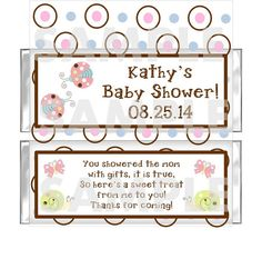 NOJO Pink Ladybug Lullaby Baby Nursery candy bar by myhtmdesigns. AVAILABLE at www.stores.ebay.com/htmdesigns