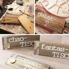 www.KreativOderPrimitiv.de Sitzplan Hochzeit Tafel selber machen DIY Holz…