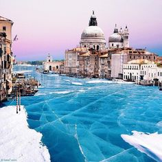 Venice photoshopped to look like it's frozen