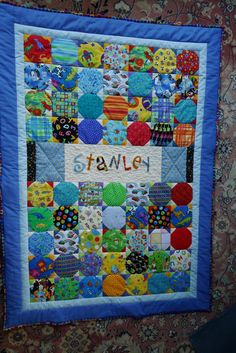 Snowball I Spy quilt board