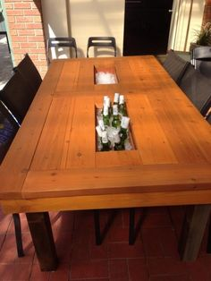 First Kreg Jig Project: Outdoor Dining Table with Built-In Cooler {from the Kreg Owners' Community}
