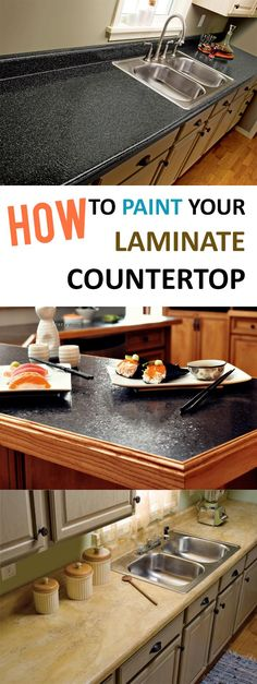 Ideas and tutorials of how to paint your laminate counter top.