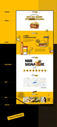 [Web Design]Nobrand Burger Web Design Color, Graphic Design Trends, Ui Ux Design, Web Design Inspiration, Layout Design, Concept Web, Promotional Design, Event Page, Portfolio Layout