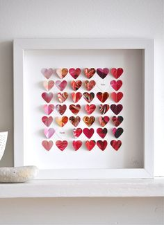 Personalised (to your required initials / dates / names / words etc) little flower hearts print. Beautiful!