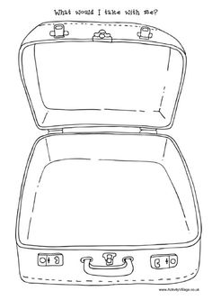 Suitcase Pattern Use The Printable Outline For Crafts Creating