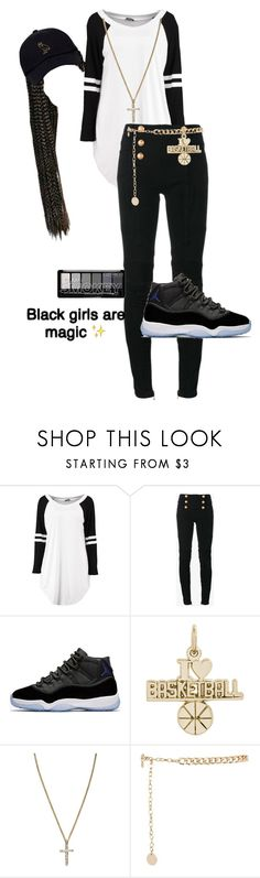 """brh"" by mulalexus ❤ liked on Polyvore featuring Balmain, Rembrandt Charms and River Island"