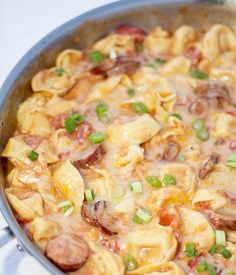 Really, really tasty and as simple as can be to make. Ingredients 1 lb package of Polish Kielbasa cut into 1/4″ slices 1/2 cup diced yellow onion 20 oz. package of refrigerated Tortellini 28 oz ...