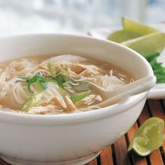 Chinese chicken noodle soup recipe using Chinese five spice, fish sauce and rice noodles. This delicious recipe is gluten free, too!