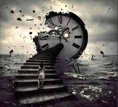 this image to me mesans the loss of time. it show the world breaking around down and the clock being destroyed it is really effactive and the use of photoshop is really good cause it makes it look like its real Arm Tattoos, Sleeve Tattoos, Tatoos, Clock Tattoo Design, Clock Art, Clocks, Tattoo Project, Pink Floyd, Photo Manipulation