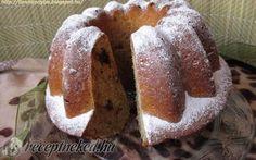 Banános kuglóf – csokidarabokkal recept fotóval Ring Cake, Scones, Muffin, Food And Drink, Bread, Breakfast, Bundt Cakes, Morning Coffee, Cupcakes