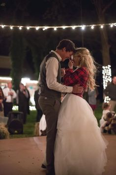 Wedding, flannel, lights //CoryHalePhotography