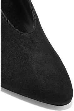Lanvin - Low-cut Suede Pumps - Black - IT38.5
