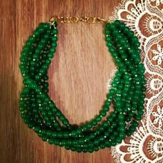 I'm GREEN with Envy Statement Necklace by icravejewels on Etsy, $52.00