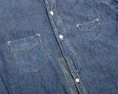 Denim Shirt, Denim Men, Jeans, Denim Button Up, Button Up Shirts, Chambray, Indigo, Mens Fashion, Stitches
