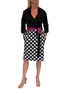 Polka Dot Wrap Dress | Dotty Dress Studio - designer, Heather Wilson