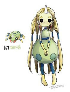 Pokemon gijinka 167. 168. Spinarak Ariados