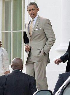 My President, so handsome!!
