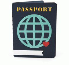 Silhouette Design Store - View Design #62401: passport card