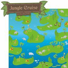 Adventure Land: Jungle Cruisin' 2 Piece Laser Die Cut Kit