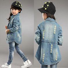 2015 new fashion baby girl jacket autumn girl fashion denim coat kids long sleeved jacket cowboy Baby Girl Fashion, Fashion Kids, Denim Fashion, New Fashion, Baby Raincoat, Baby Girl Jackets, Autumn Girl, Kids Coats, Denim Coat
