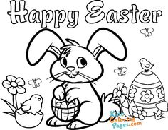 cute easter bunny pictures to color - Kids Coloring Pages Easter Bunny Pictures, Cute Easter Bunny, Happy Easter, Coloring For Kids, Coloring Pages For Kids, Preschool Worksheets, To Color, Colorful Pictures, Art Drawings