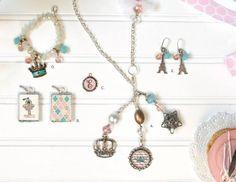 A. Alice (necklace) $16 B. Penelope (pendant) $15 C. Daisy (charm) $6 D. Belle (bracelet) $12 E. Madeline (earrings) $10  Order yours today!:: http://www.plunderdesign.com/desireeweiss   #plunderbydesiree #plundermepretty #plunderdesign #jewelry #vintage