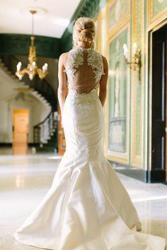 Photography: Rachel Moore Photography  - www.rachelmoorephoto.com/ Wedding Dress: Lazaro - www.jlmcouture.com/Lazaro   Read More on SMP: http://www.stylemepretty.com/2016/02/08/classic-ballroom-wedding-in-nashville/