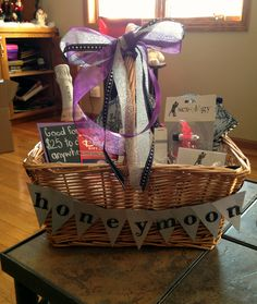 Gift Basket For Bride And Groom Wedding Night : gift basket more gift baskets gift idea s honeymoon gift basket ...