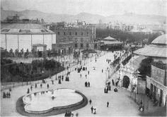 BARCELOFÍLIA: LLAC AMB BROLLADOR a la Plaça Catalunya (1888-1902) -foto de 1888
