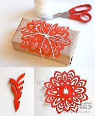 雪花剪纸,圣诞节马上到了,送朋友小礼物…